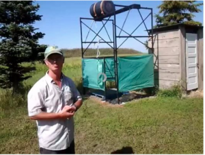 Malcolms shower-Small Prairie Farm